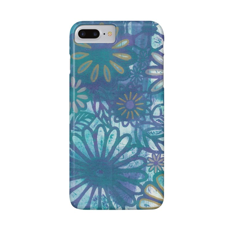 Metallic Daisies Accessories Phone Case by Margie Mark's Artist Shop