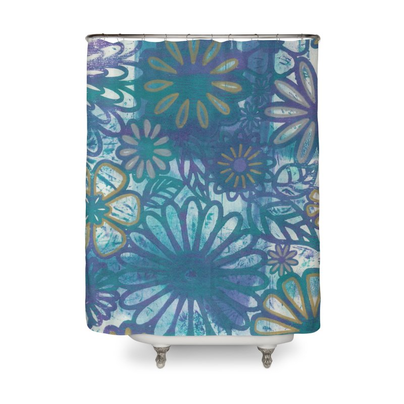 Metallic Daisies Home Shower Curtain by Margie Mark's Artist Shop