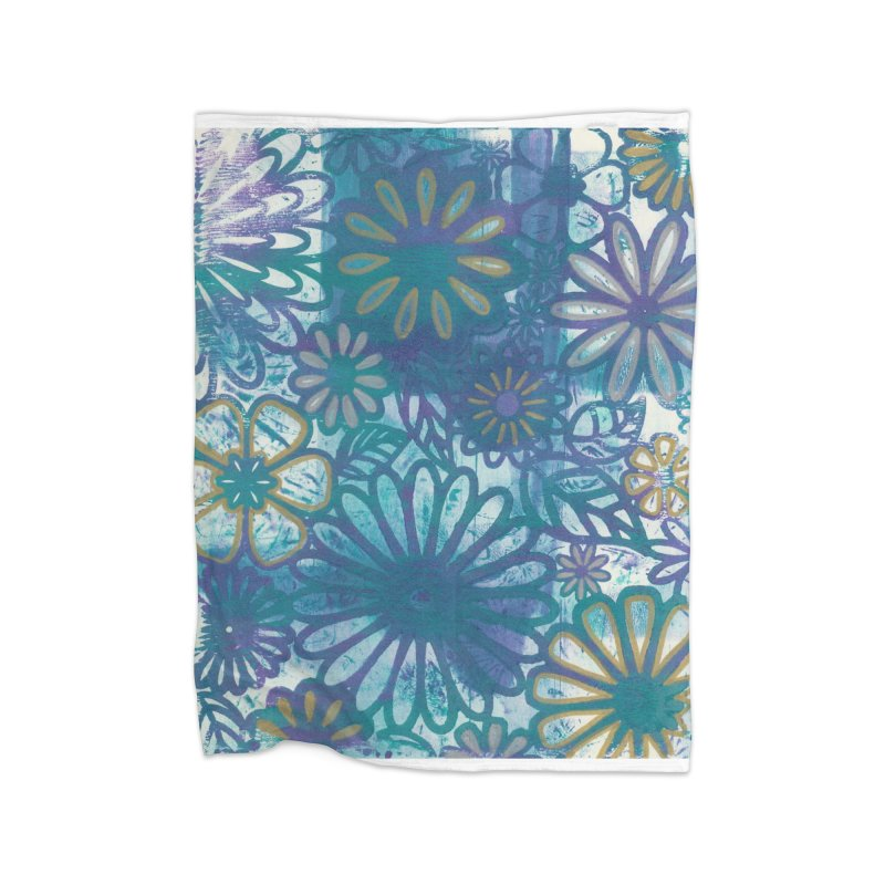 Metallic Daisies Home Blanket by Margie Mark's Artist Shop
