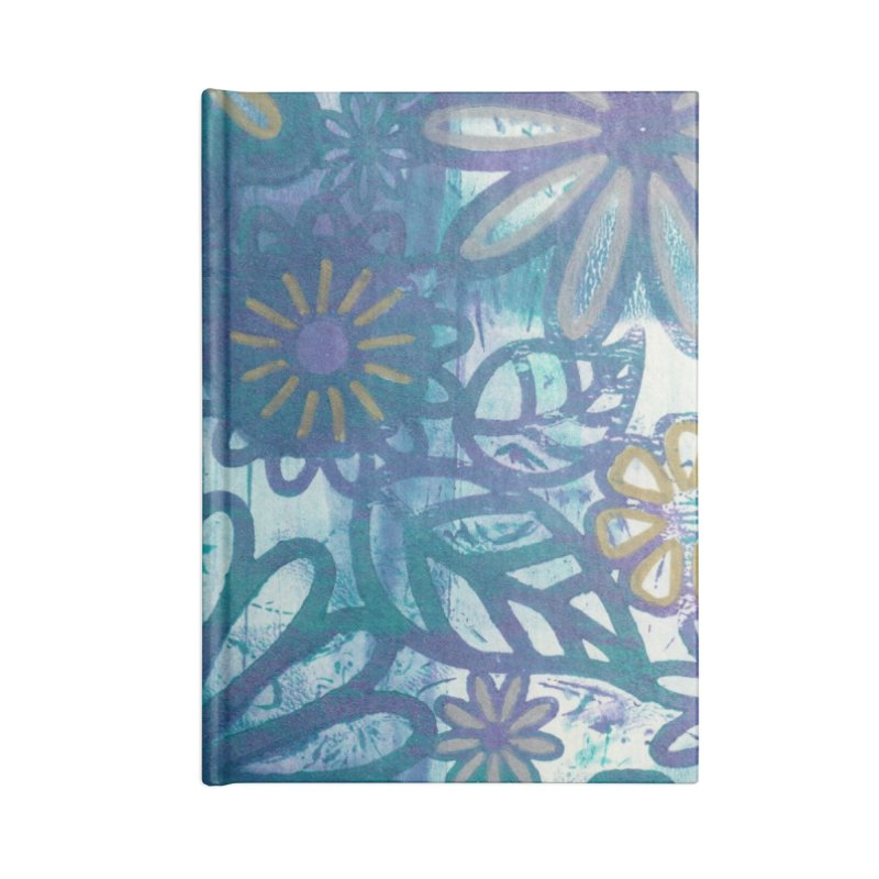 Metallic Daisies Accessories Notebook by Margie Mark's Artist Shop