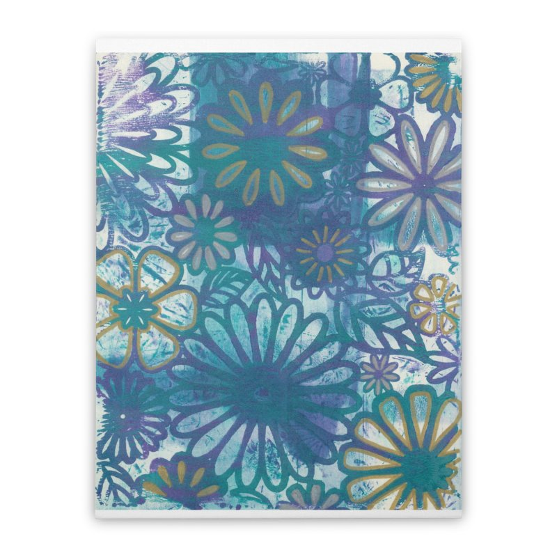 Metallic Daisies Home Stretched Canvas by Margie Mark's Artist Shop