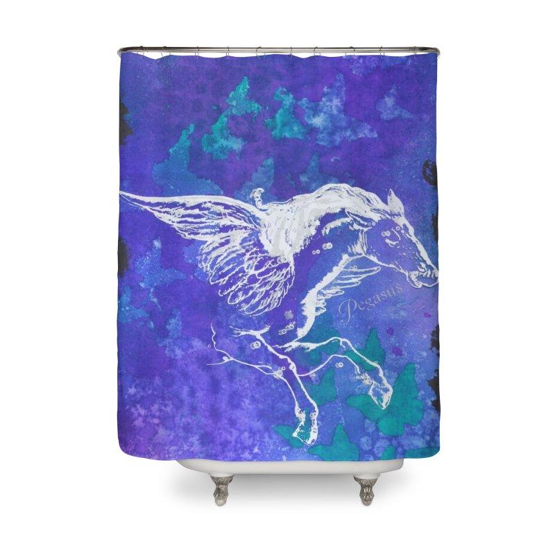 Pegasus Dream Home Shower Curtain by Margie Mark's Artist Shop