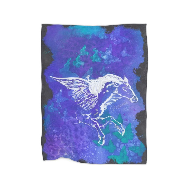 Pegasus Dream Home Blanket by Margie Mark's Artist Shop