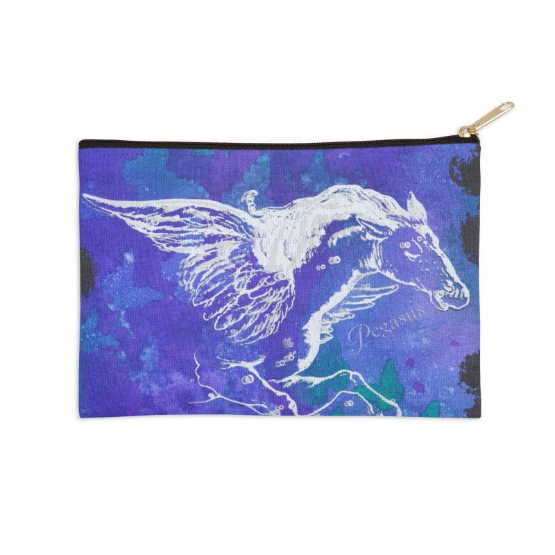 Pegasus Dream Accessories Zip Pouch by Margie Mark's Artist Shop