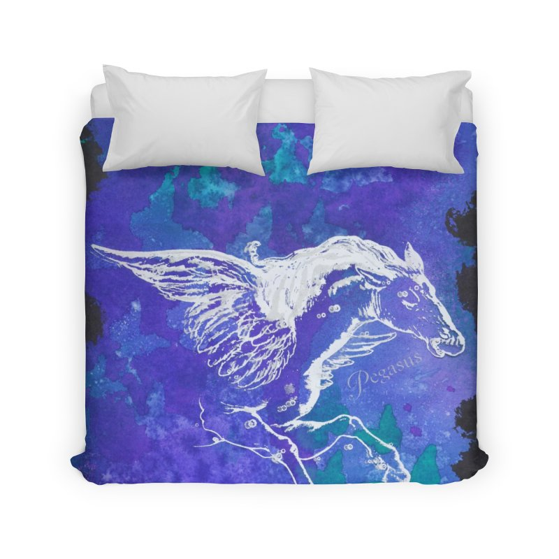 Pegasus Dream Home Duvet by Margie Mark's Artist Shop