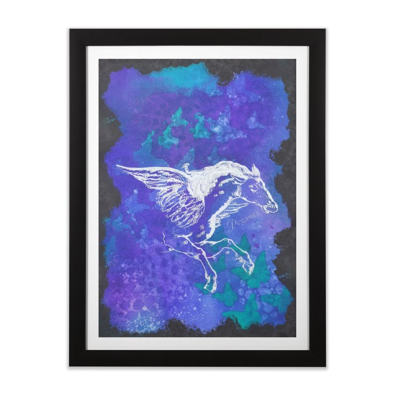 Pegasus Dream Home Framed Fine Art Print by Margie Mark's Artist Shop