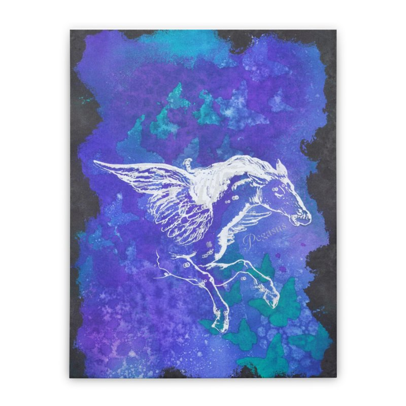 Pegasus Dream Home Stretched Canvas by Margie Mark's Artist Shop