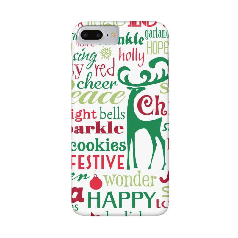 Holiday Words Accessories Phone Case by Margie Mark's Artist Shop