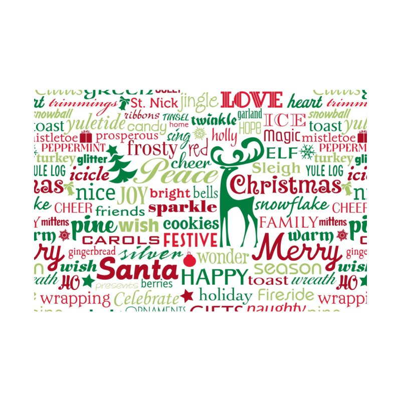 Holiday Words by Margie Mark's Artist Shop