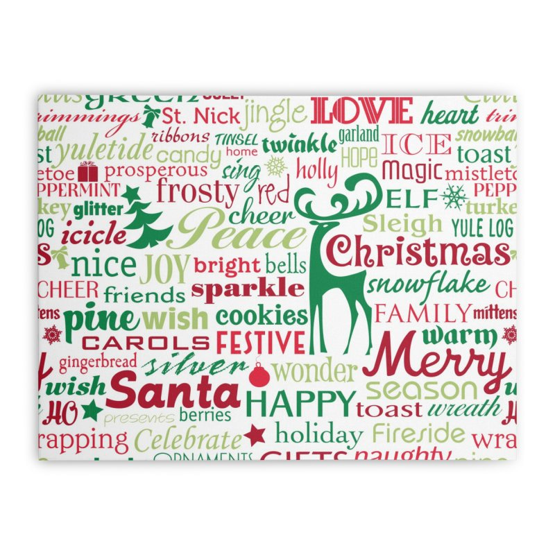 Holiday Words Home Stretched Canvas by Margie Mark's Artist Shop
