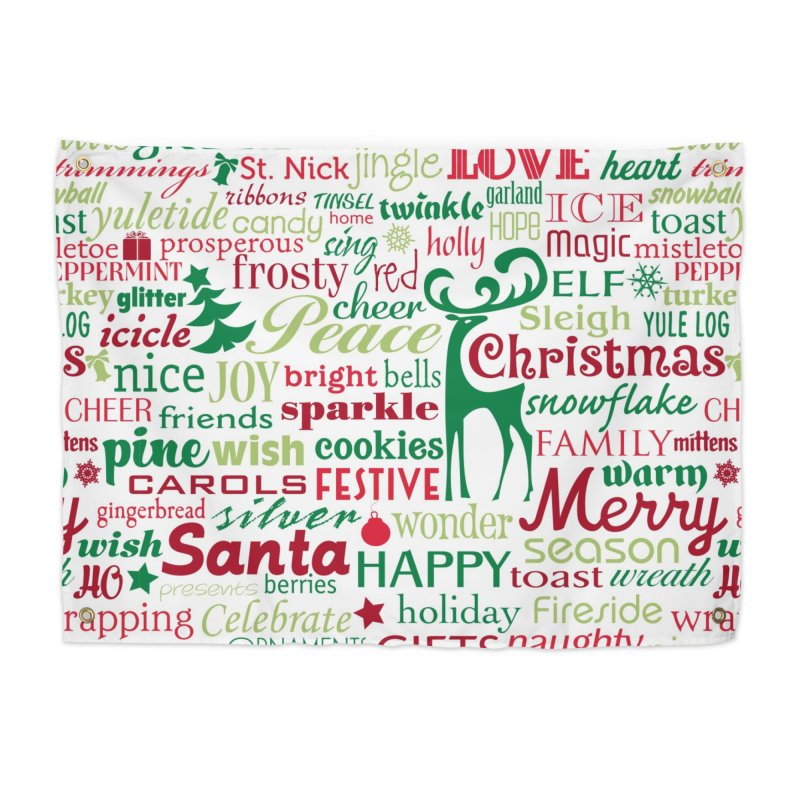 Holiday Words Home Tapestry by Margie Mark's Artist Shop