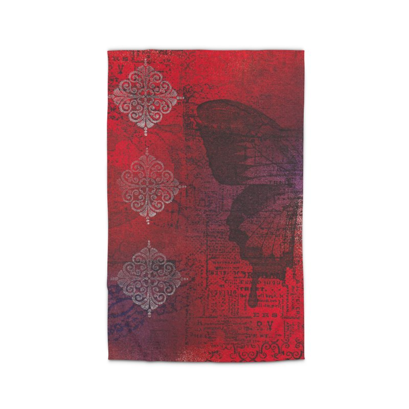 Butterfly Ink Home Rug by Margie Mark's Artist Shop