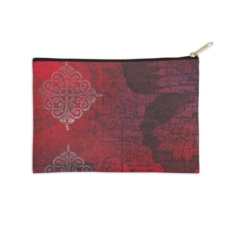 Butterfly Ink Accessories Zip Pouch by Margie Mark's Artist Shop