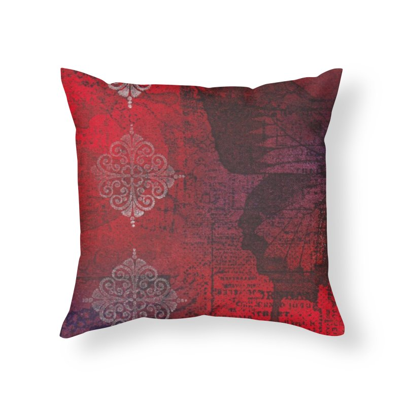 Butterfly Ink Home Throw Pillow by Margie Mark's Artist Shop