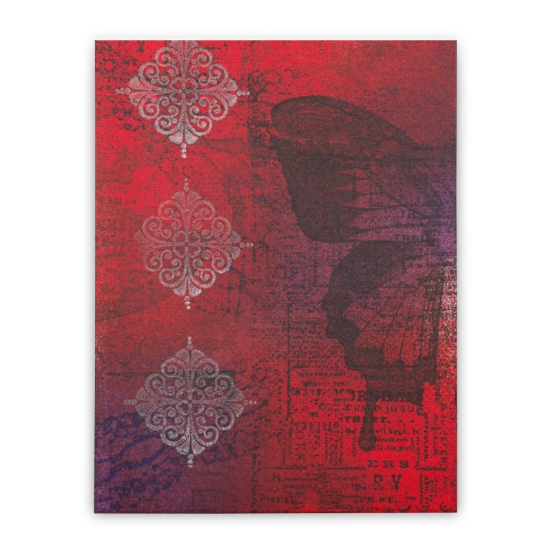 Butterfly Ink Home Stretched Canvas by Margie Mark's Artist Shop