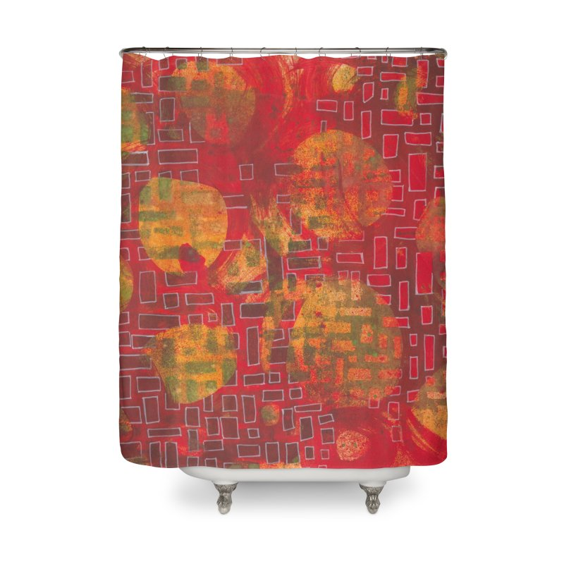 Building/Breaking Home Shower Curtain by Margie Mark's Artist Shop