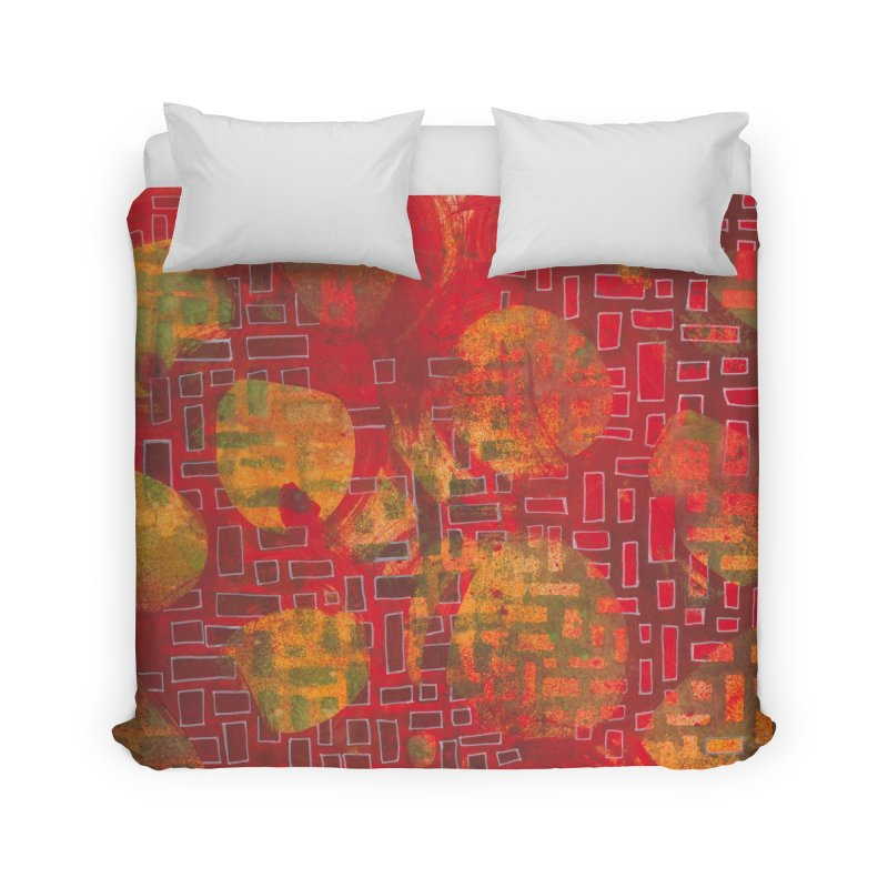 Building/Breaking Home Duvet by Margie Mark's Artist Shop
