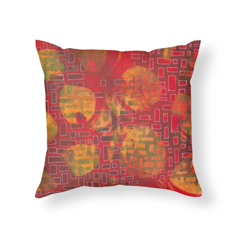 Building/Breaking Home Throw Pillow by Margie Mark's Artist Shop