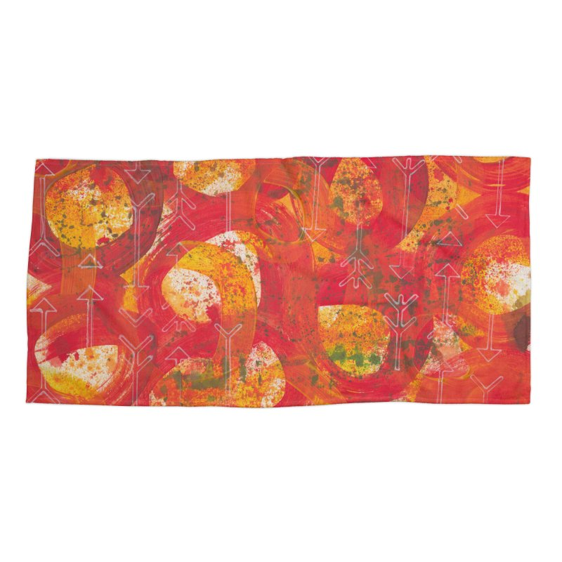 Directions Accessories Beach Towel by Margie Mark's Artist Shop