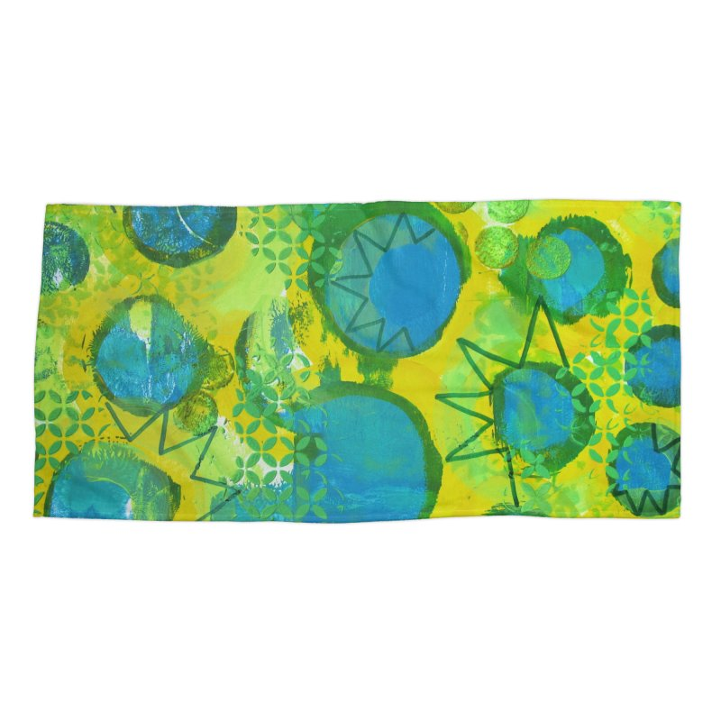 Eclipse Accessories Beach Towel by Margie Mark's Artist Shop
