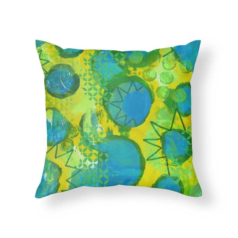 Eclipse Home Throw Pillow by Margie Mark's Artist Shop