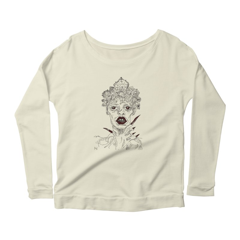 That girl Sussi Women's Longsleeve Scoopneck  by mariabelonesart's Artist Shop
