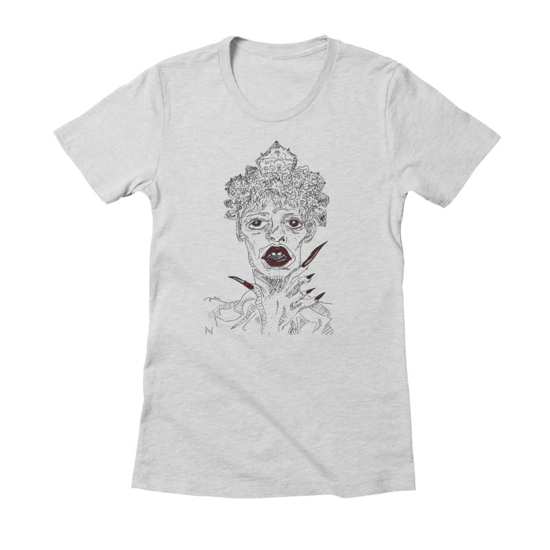 That girl Sussi Women's Fitted T-Shirt by mariabelonesart's Artist Shop