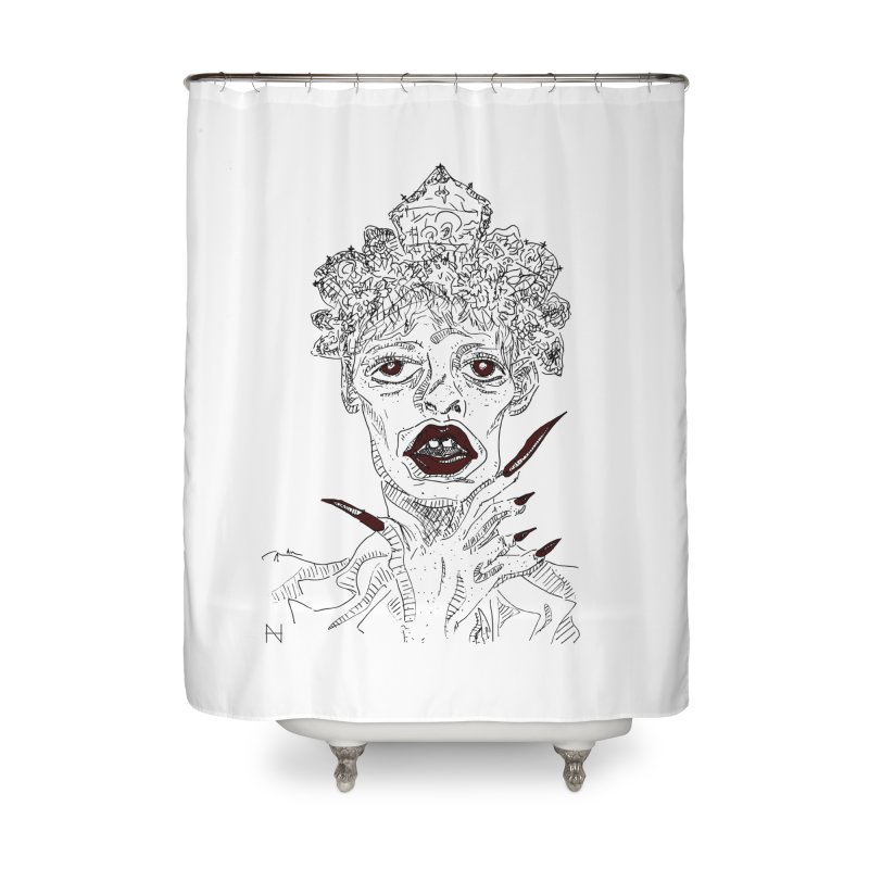 That girl Sussi Home Shower Curtain by mariabelonesart's Artist Shop