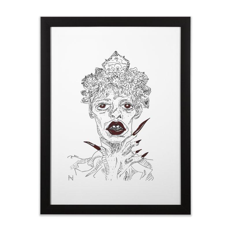 That girl Sussi Home Framed Fine Art Print by mariabelonesart's Artist Shop