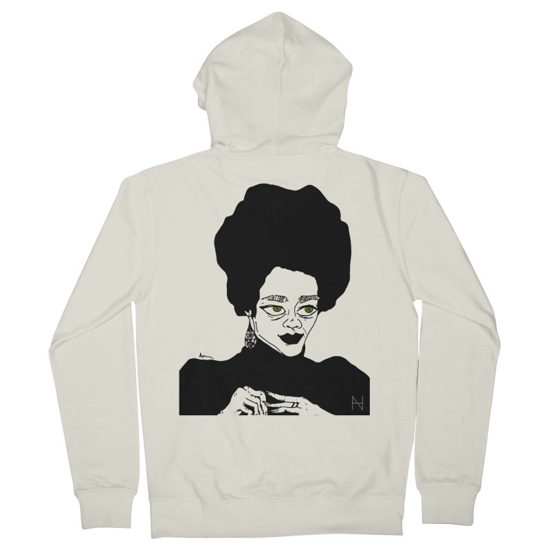 Coretta Men's Zip-Up Hoody by MariabelonesART