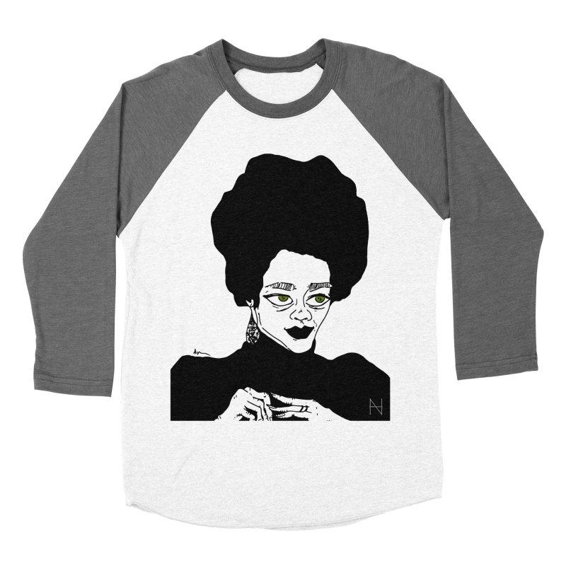 Coretta Women's Baseball Triblend T-Shirt by mariabelonesart's Artist Shop