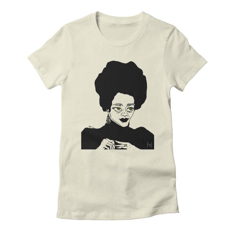 Coretta Women's Fitted T-Shirt by mariabelonesart's Artist Shop