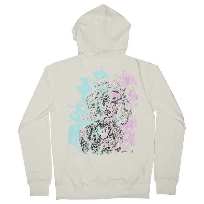 Too much going on Men's Zip-Up Hoody by mariabelonesart's Artist Shop