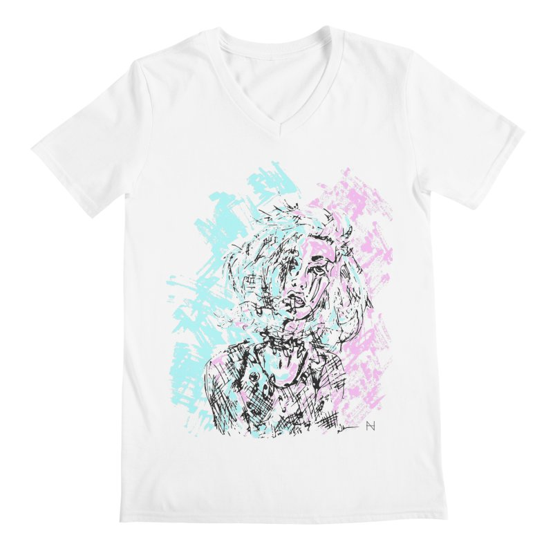 Too much going on Men's V-Neck by mariabelonesart's Artist Shop