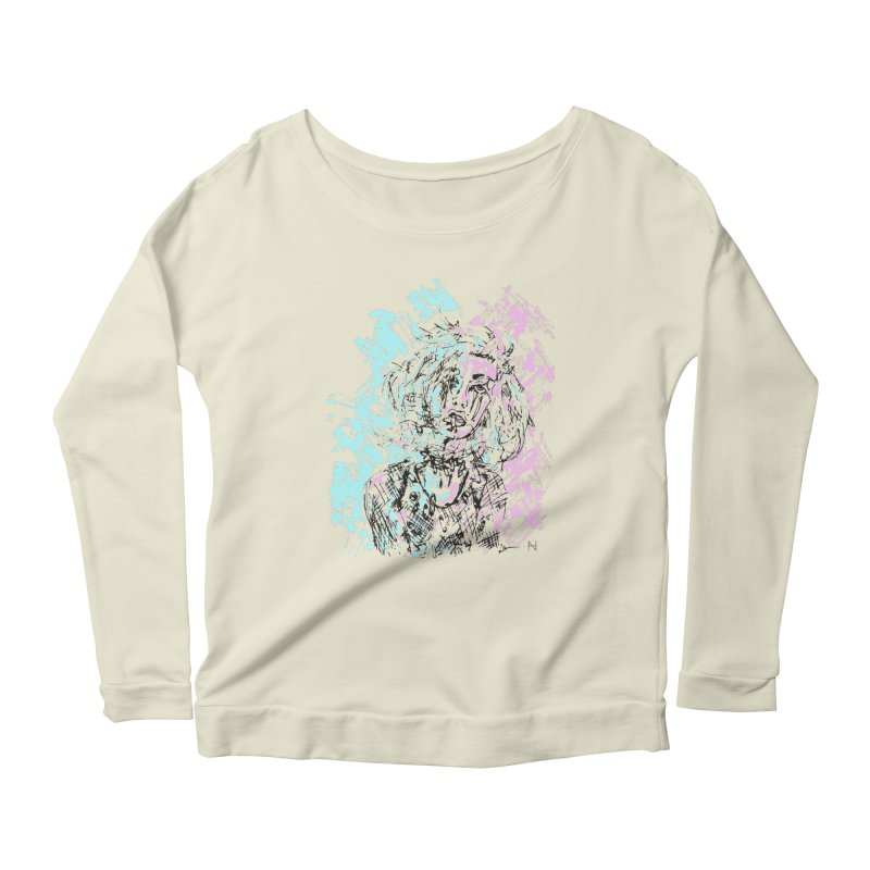 Too much going on Women's Longsleeve Scoopneck  by MariabelonesART