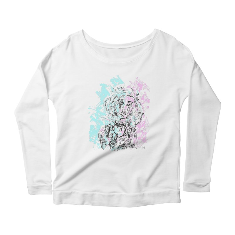 Too much going on Women's Longsleeve Scoopneck  by mariabelonesart's Artist Shop