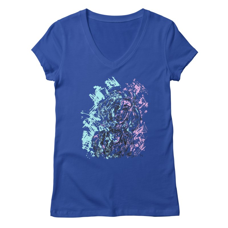Too much going on Women's V-Neck by MariabelonesART