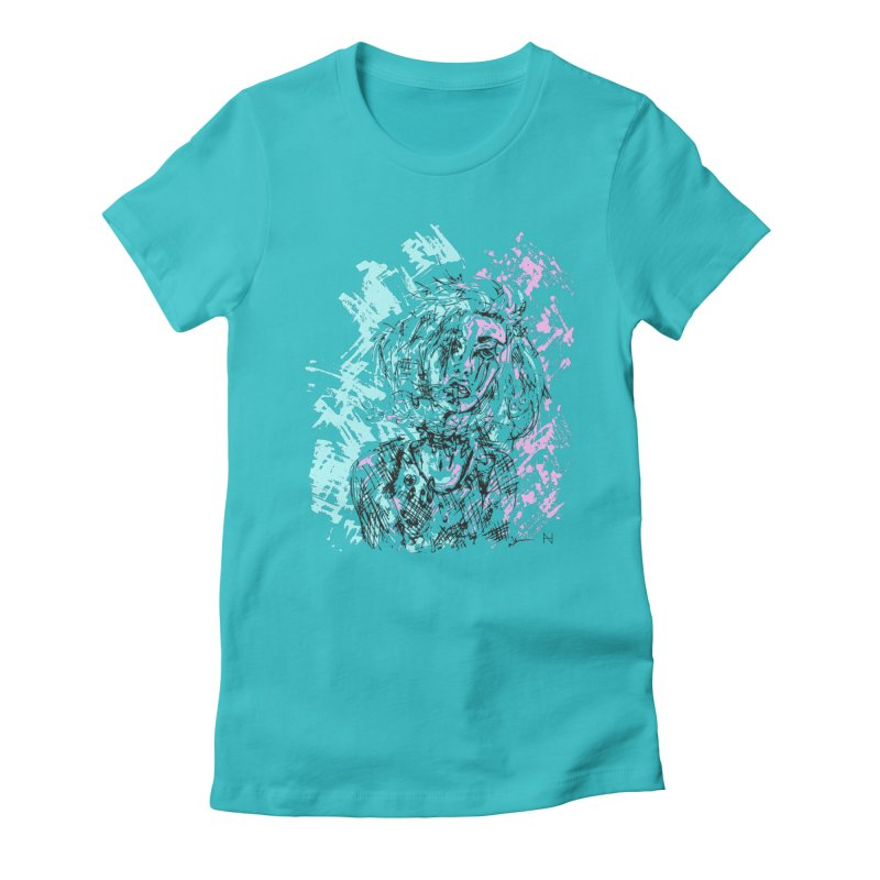 Too much going on Women's Fitted T-Shirt by mariabelonesart's Artist Shop