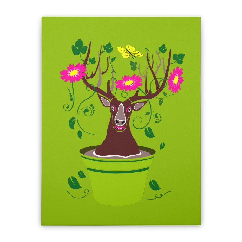 DearDeer Home Stretched Canvas by mariabelonesart's Artist Shop