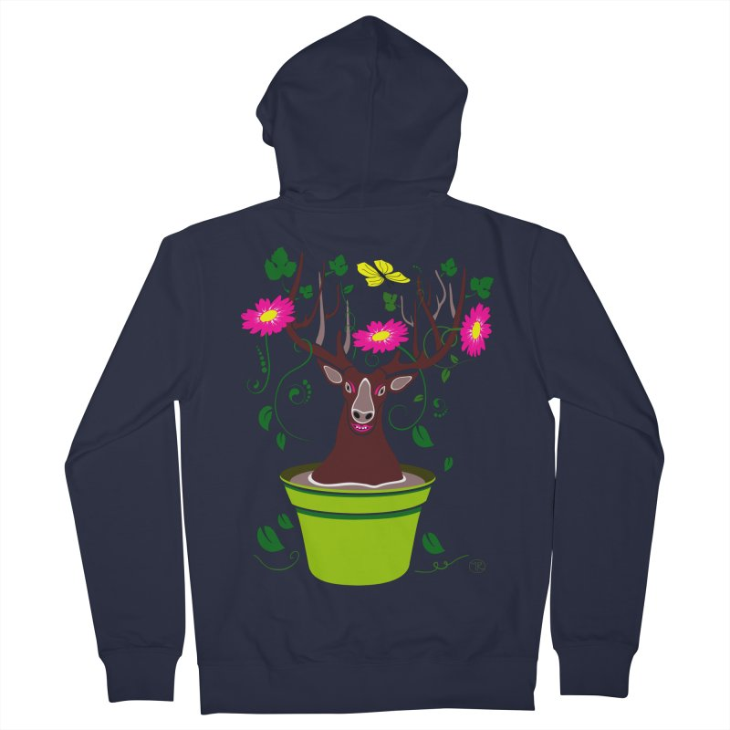 DearDeer Women's Zip-Up Hoody by mariabelonesart's Artist Shop