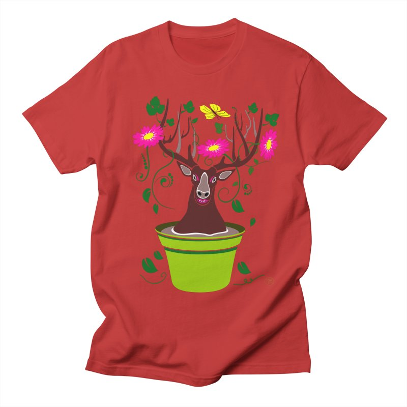 DearDeer Men's T-Shirt by mariabelonesart's Artist Shop