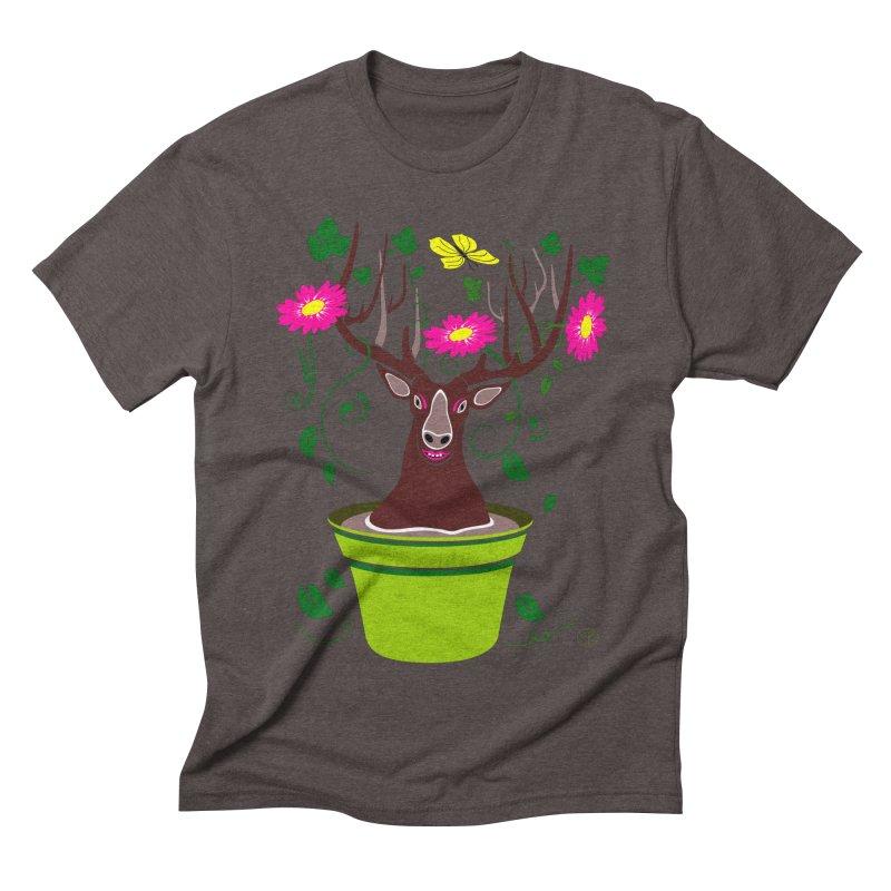 DearDeer Men's Triblend T-Shirt by MariabelonesART