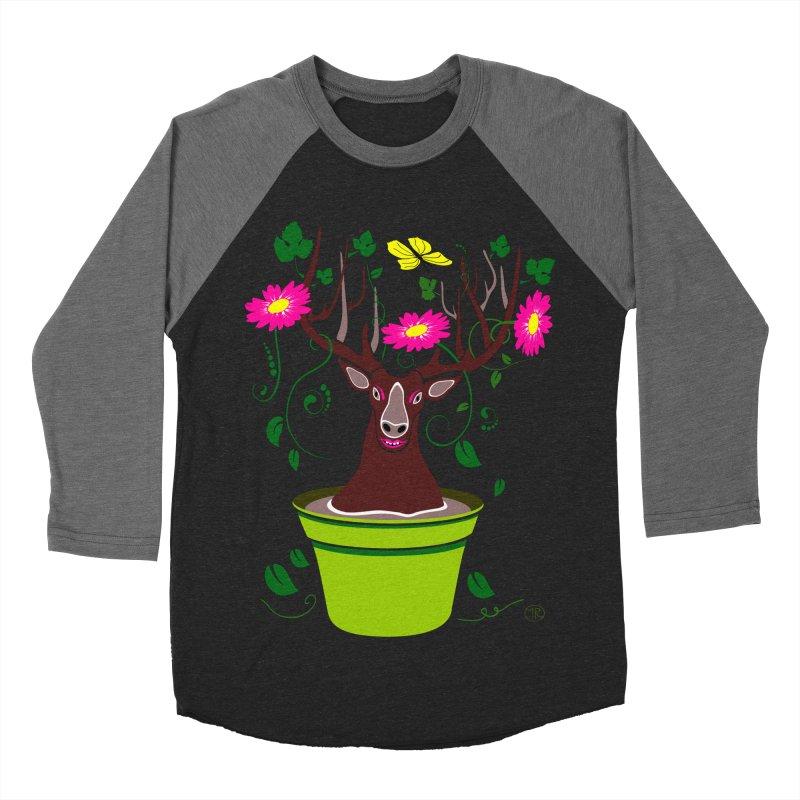 DearDeer Women's Baseball Triblend T-Shirt by mariabelonesart's Artist Shop