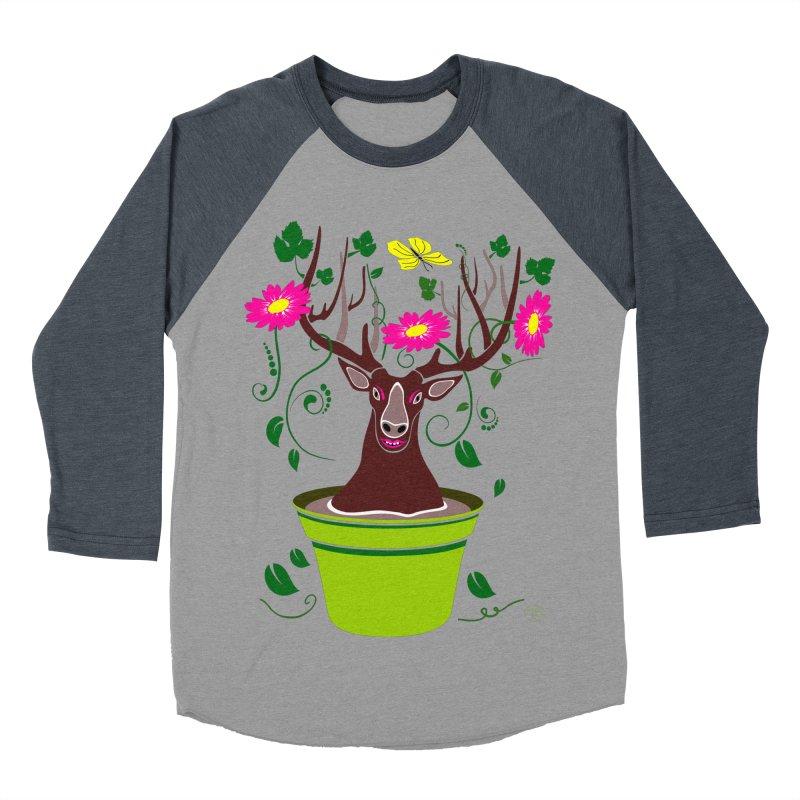 DearDeer Men's Baseball Triblend T-Shirt by mariabelonesart's Artist Shop