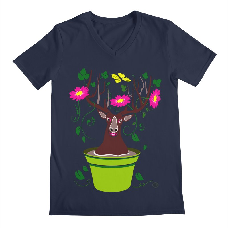 DearDeer Men's V-Neck by mariabelonesart's Artist Shop