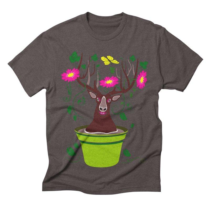 DearDeer Men's Triblend T-shirt by mariabelonesart's Artist Shop