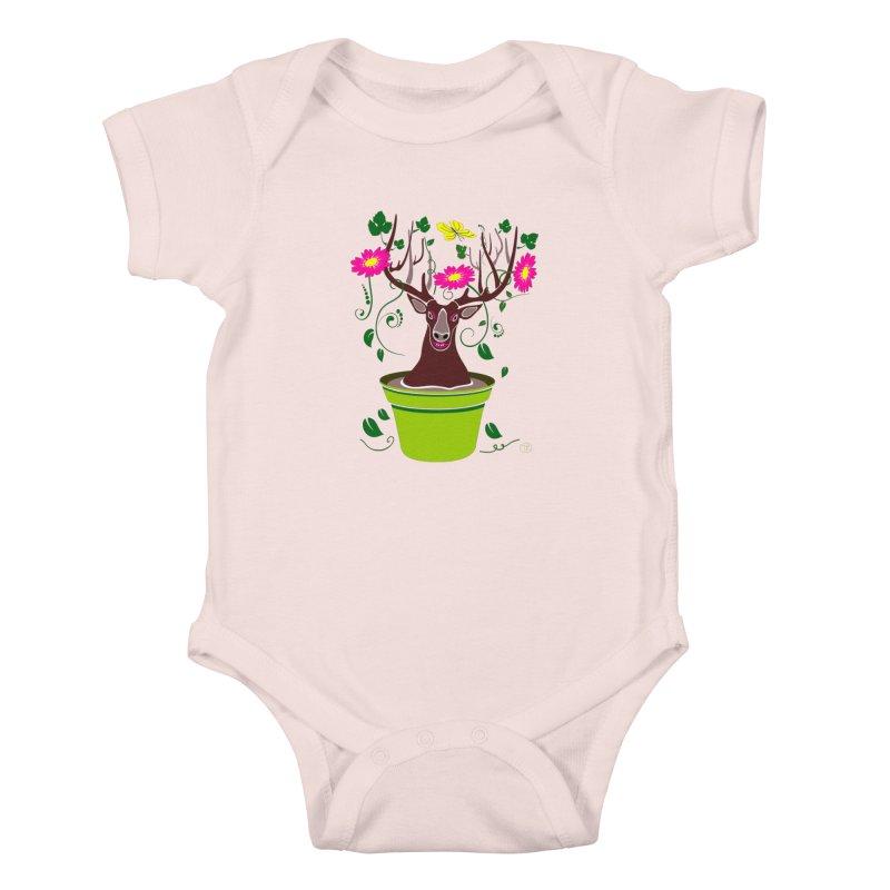 DearDeer Kids Baby Bodysuit by mariabelonesart's Artist Shop