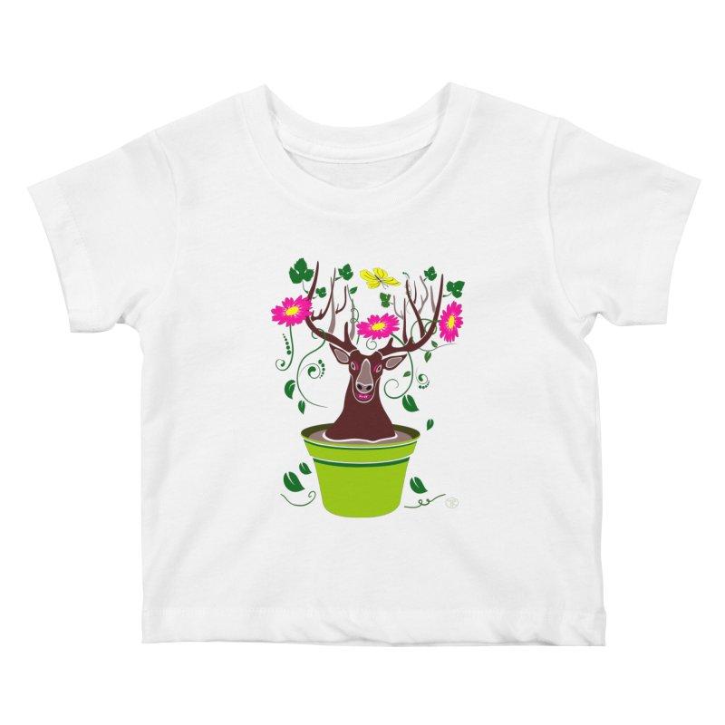 DearDeer Kids Baby T-Shirt by mariabelonesart's Artist Shop