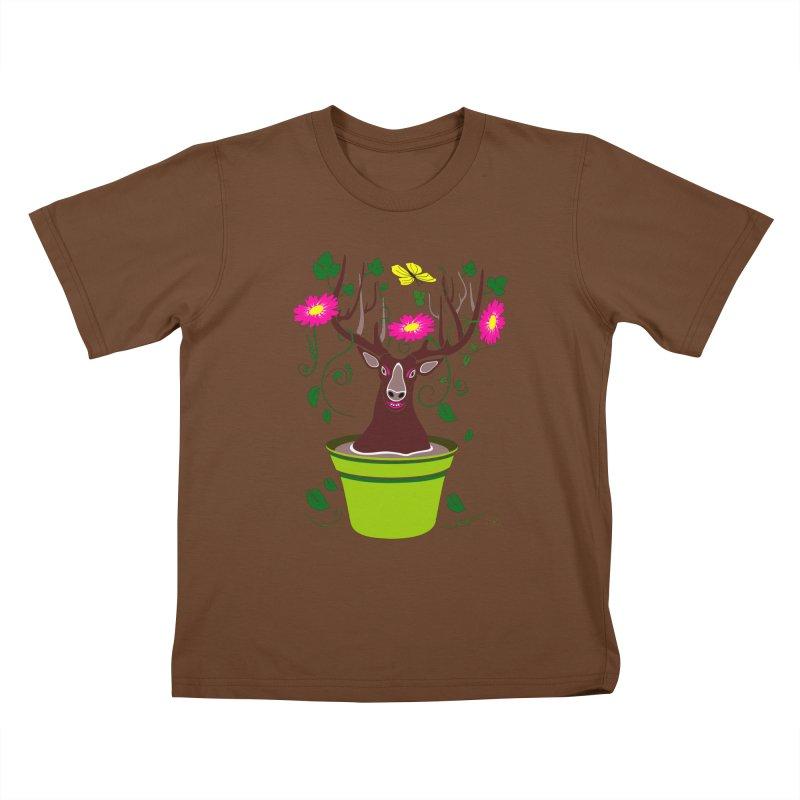 DearDeer Kids T-Shirt by mariabelonesart's Artist Shop