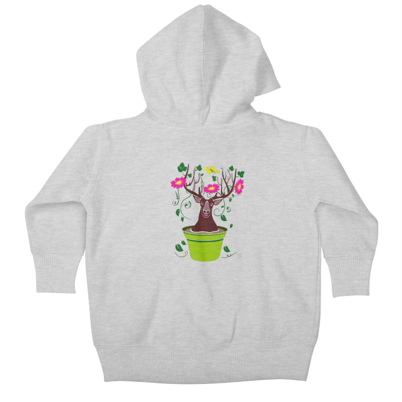 DearDeer Kids Baby Zip-Up Hoody by mariabelonesart's Artist Shop